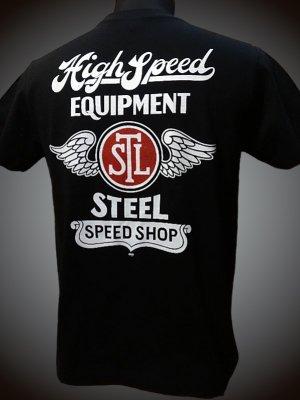 steel-hot rod wear スティール Tシャツ (STL-C005) grimb design カラー:ブラック