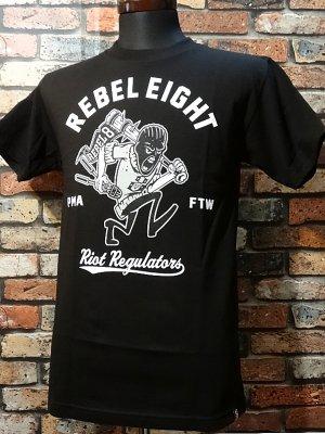 rebel8 レベルエイト Tシャツ  riot regulators  カラー:ブラック
