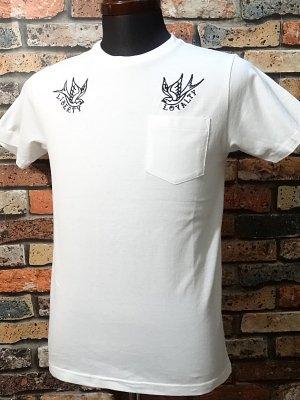 kustomstyle カスタムスタイル ポケットTシャツ (KSTPO1514WH) liberty&loyalty カラー:ホワイト