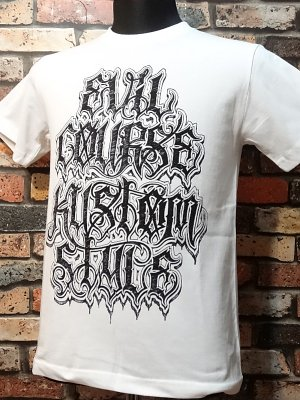 kustomstyle カスタムスタイル Tシャツ (KST1606WH) evil course  カラー:ホワイト
