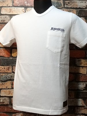 kustomstyle カスタムスタイル Vネックポケット付Tシャツ (KSTVP1316WH) panther logo  v-neck pocket  カラー:ホワイト