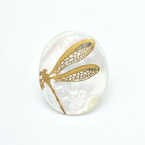 【予約販売】蒔絵ブローチ(蜻蛉)