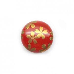 蒔絵塗帯留(桜)