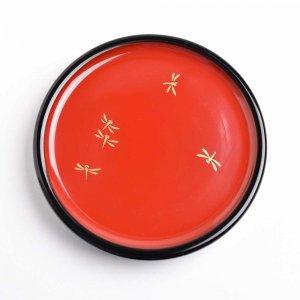 蒔絵 塗豆皿( 蜻蛉 )