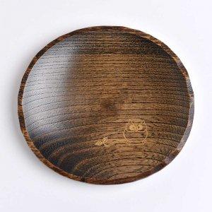 ふくろう蒔絵 豆皿