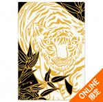 壁画ポストカード〈White Tiger/BLK〉