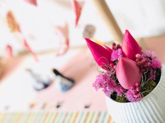 プリザーブドフラワー 蓮の花 和風アレンジメント