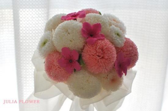 プリザーブドフラワー|桜×ピンポンマム 和風ミニブーケ