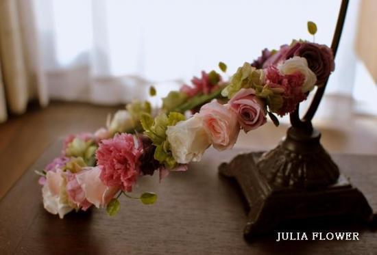 プリザーブドフラワー|アンティークピンク 花冠