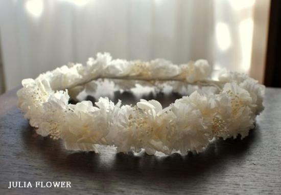 プリザーブドフラワー|カーネーション×カスミソウ 花冠