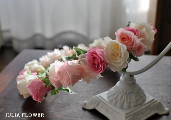 プリザーブドフラワー|プリンセスピンク 花冠(ボリュームタイプ)