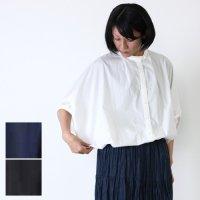 mizuiro ind (ミズイロインド) マオカラータックスリーブシャツ