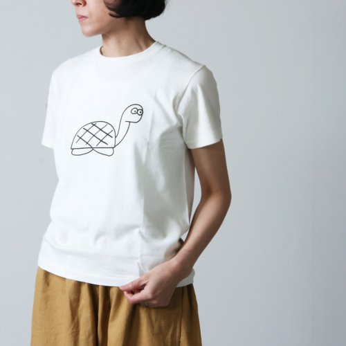 YAECA (ヤエカ) Ken Kagami PRINT TEE tortlose / ケンカガミ プリントTシャツ タートルズ