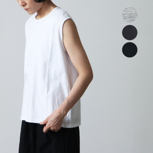 【50% OFF】 jujudhau (ズーズーダウ) SHALLOW NECK TANK TOP