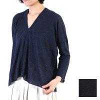evameva (エヴァムエヴァ) Linen square pullover