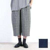 style + confort (スティールエコンフォール) リネンチェックイージーパンツ
