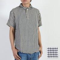 LOLO (ロロ) 2重ガーゼギンガム半袖シャツ