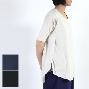 evameva (エヴァムエヴァ) Botanical dye short sleeve pullover