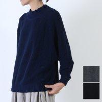 mao made (マオメイド) 片あぜ編みハイネックドルマンプルオーバー