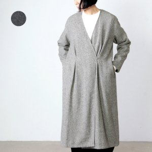 evameva (エヴァムエヴァ) wool tuck robe / ウールタックローブ