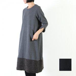 【40% OFF】 ina (イナ) コットンウール配色ワンピース