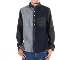NATIC (ナティック) 縮絨×フラノパッチワークシャツ