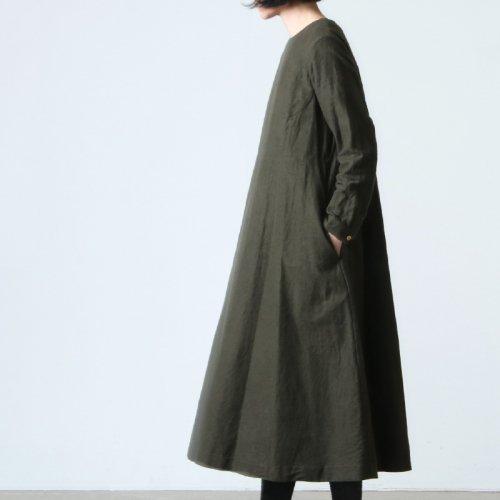YAECA (ヤエカ) WRITE BIG TUCK DRESS / ライトビッグタックドレス