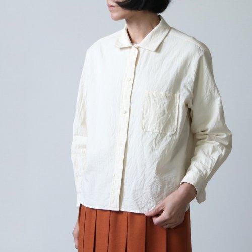 YAECA (ヤエカ) WRITE BUTTON SHIRT WIDE / ライトボタンシャツワイド