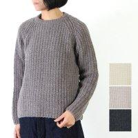 evameva (エヴァムエヴァ) roving wool Pullover / ロービングウールプルオーバー
