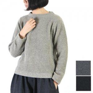 evameva (エヴァムエヴァ) wool aze stand Pullover / ウールアゼスタンドプルオーバー