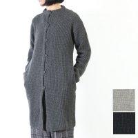 evameva (エヴァムエヴァ) wool aze coat / ウールアゼコート