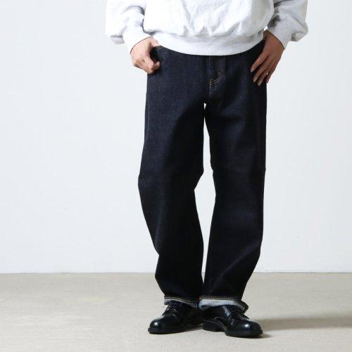 YAECA (ヤエカ) WIDE STRAIGHT DENIM PANTS / ワイドストレートデニムパンツ