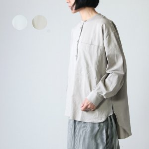 [THANK SOLD] MidiUmi (ミディウミ) ノーカラーワイドシャツ