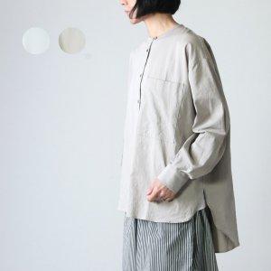 MidiUmi (ミディウミ) ノーカラーワイドシャツ