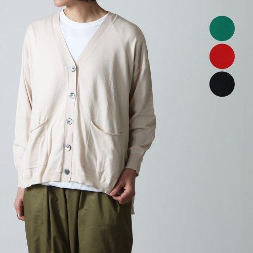 mao made (マオメイド) UV加工ピマコットンVネックプルオーバー