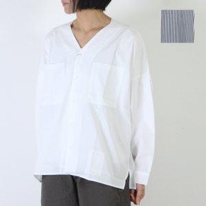 【30% OFF】 kha:ki (カーキ) Vネックワイドシャツ