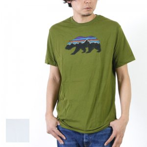 PATAGONIA (パタゴニア) M's Fitz Roy Crest Cotton/Poly T-Shirt / ロゴTシャツ