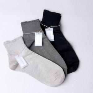 evameva (エヴァムエヴァ) Recycled cotton short socks / リサイクル コットン ショート ソックス