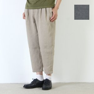 evameva (エヴァムエヴァ) Linen tuck pants