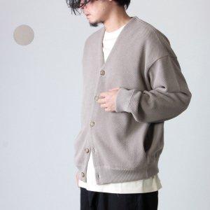 crepuscule (クレプスキュール) moss stitch V/N cardigan / モススティッチVネックカーディガン