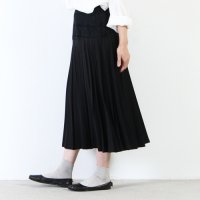 【30% OFF】 mizuiro ind (ミズイロインド) レースコンビプリーツスカート