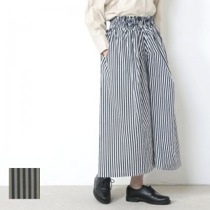 【30% OFF】 FACTORY (ファクトリー) ペルー綿ギャザースカート