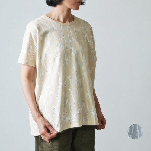 sneeuw (スニュウ) マーカープリントTシャツ