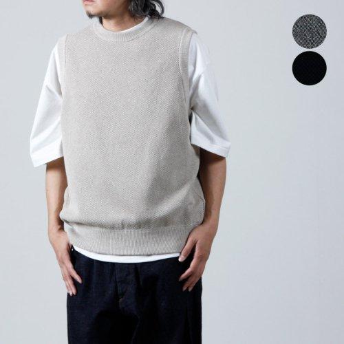 【30% OFF】 crepuscule (クレプスキュール) Lowgage Moss Stitch Vest / ローゲージモススティッチベスト