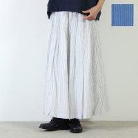 Vlas blomme (ヴラスブラム) 先染め80'sボイルストライプ リバーシブルシャーリングスカート