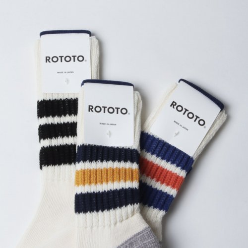 RoToTo (ロトト) COARSE RIBBED OLDSCHOOL SOCKS / コース リブド オールドスクール ソックス