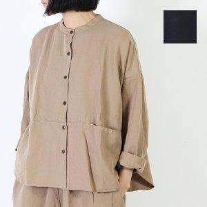 Veritecoeur (ヴェリテクール) ノーカラー切替ポケットシャツ