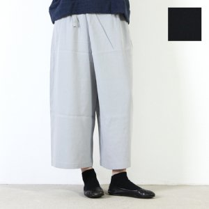 evameva (エヴァムエヴァ) Cotton double cloth wrap pants