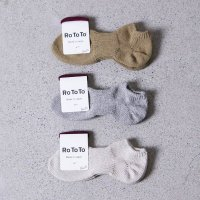 RoToTo (ロトト) Lowgauge Cotton Rib Socks Short