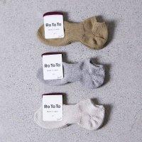 RoToTo (ロトト) Lowgauge Cotton Rib Socks Short